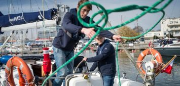 Szkolenie manewrowe na jachcie morskim w Gdyni