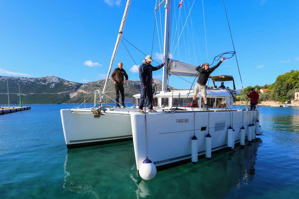Szkolenie na katamaranie Lagoon w Chorwacji