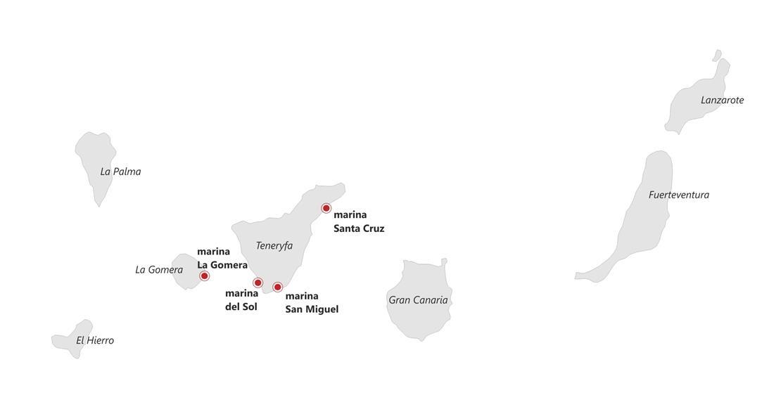 Mapka Wysp Kanaryjskich