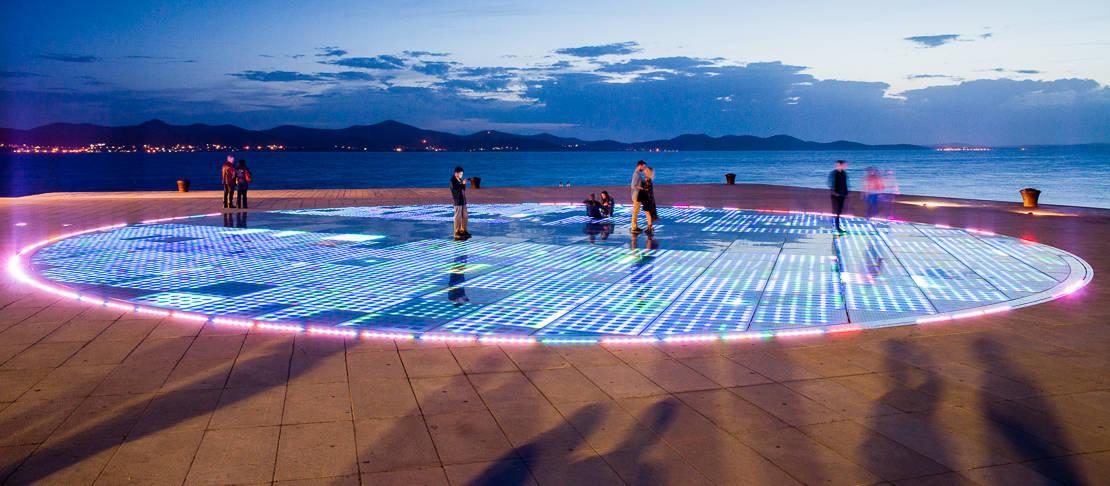 Instalacja Zadar - pozdrowienie słońca