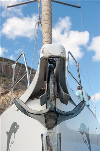 kotwica na jachcie żaglowym