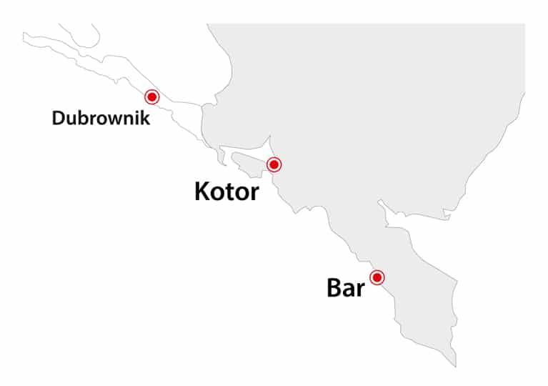 Mapa Czarnogóry