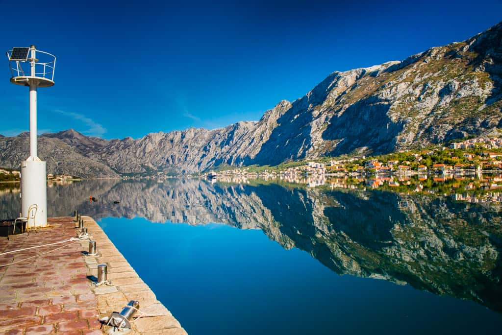 Czarnogóra - widok na Zatokę Kotorską