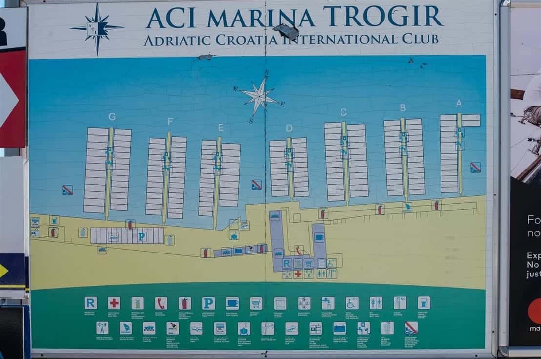 Plan mariny ACI w Trogirze