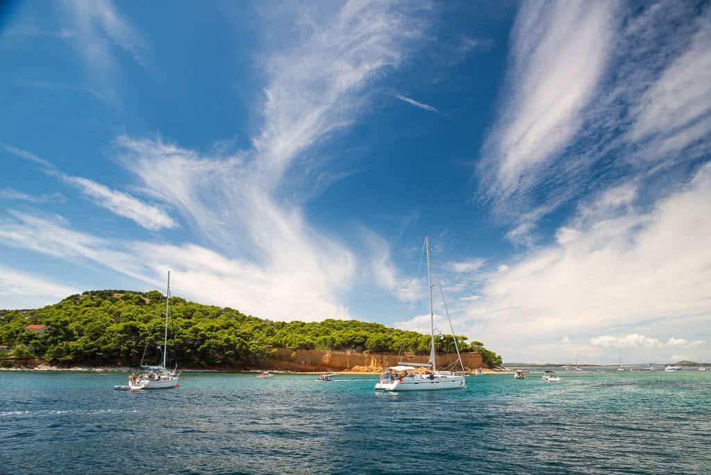 Kotwicowisko w Chorwacji wyspa Vrgada