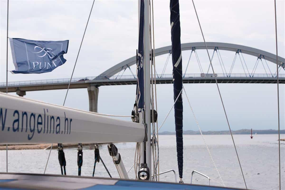 Most Zdrelac między wyspą Paśman i wyspą Uglian