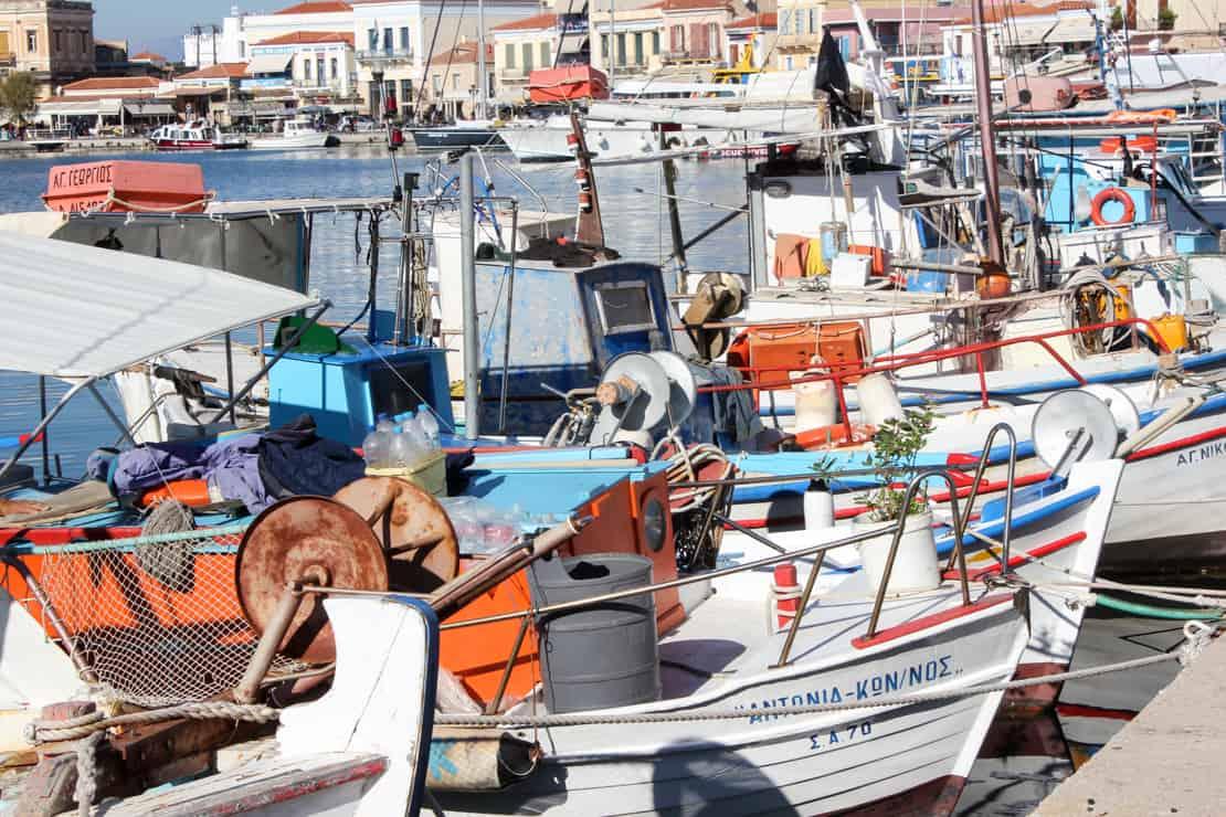 Aegina port rybacki