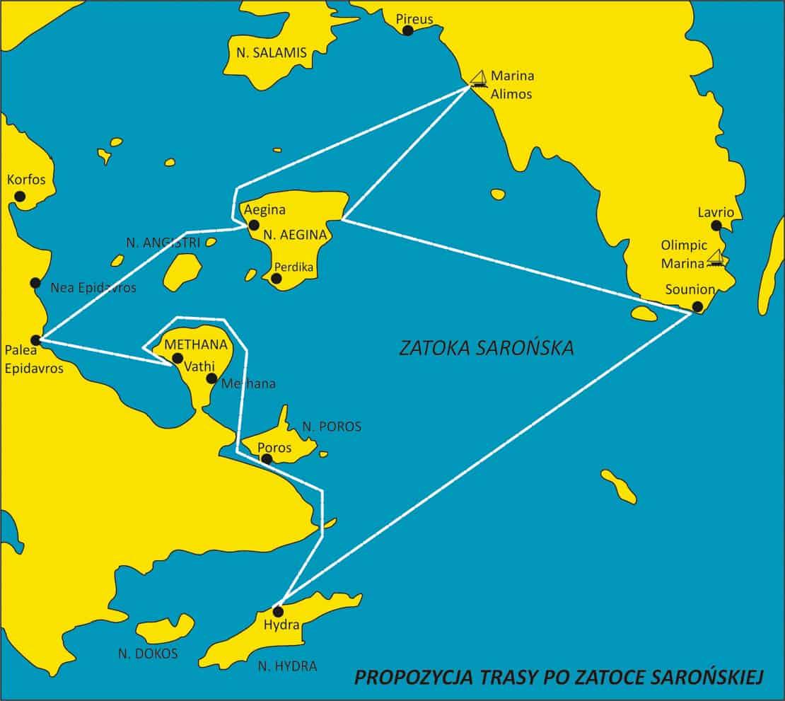 mapka zatoki Sarońskiej