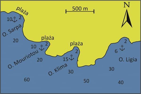 Wyspa Aegina południowe wybrzeże