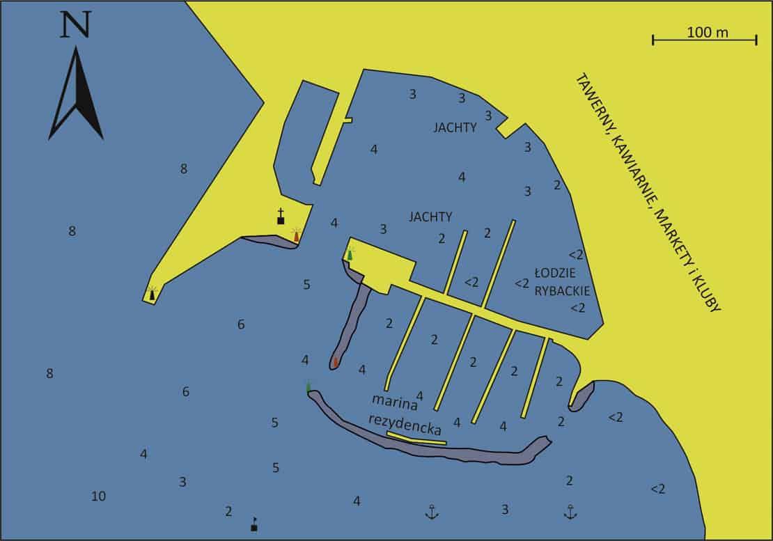 mapka portu Aegina
