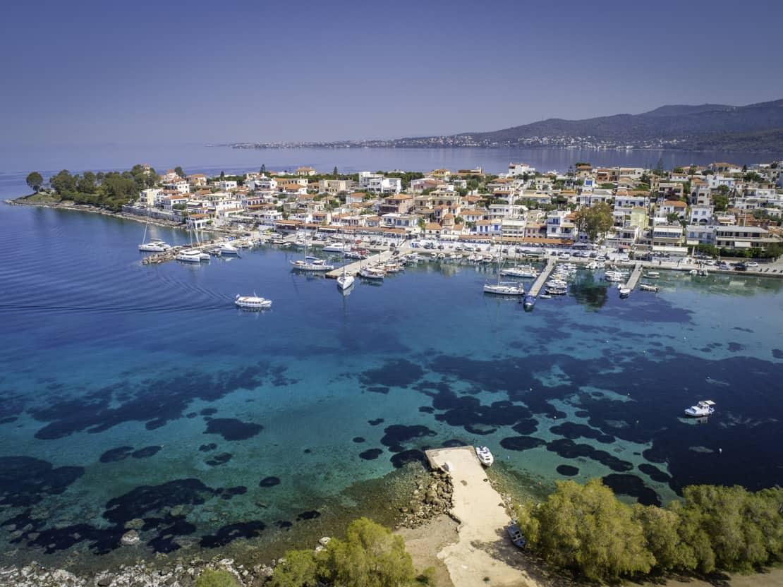 Miejscowość Perdika na wyspie Aegina