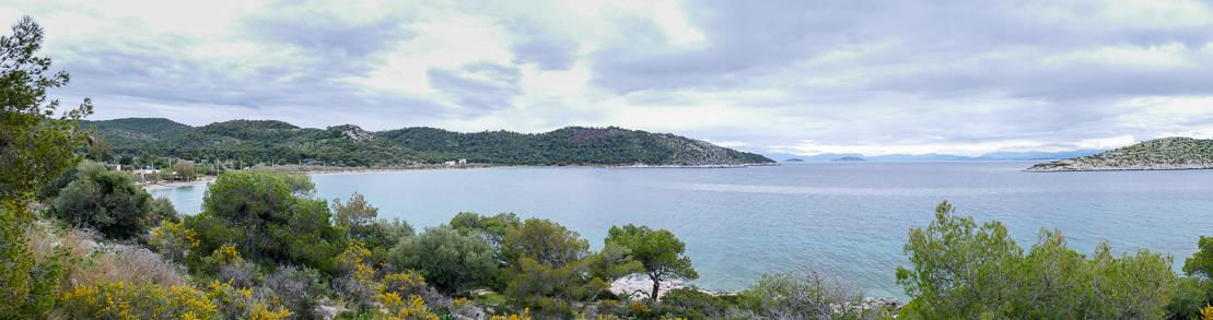 Zatoka Kanakia wyspa Salamina