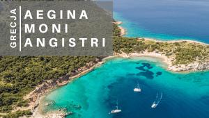 Wyspy zatoki sarońskiej Aegina Moni Angistri