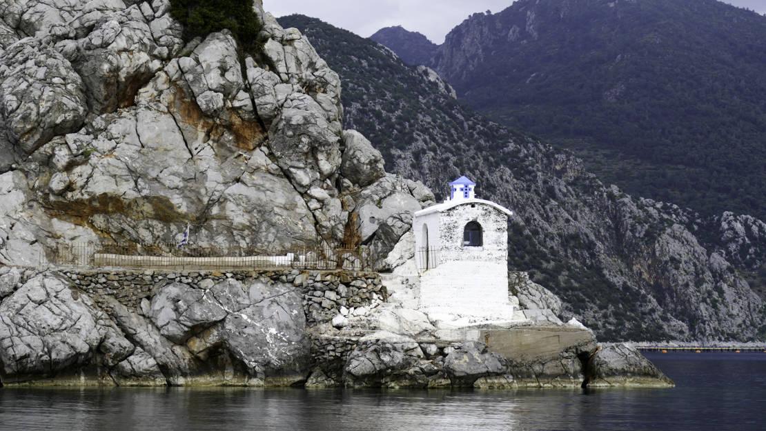 Kościółek Krasapanagia półwysep Methana