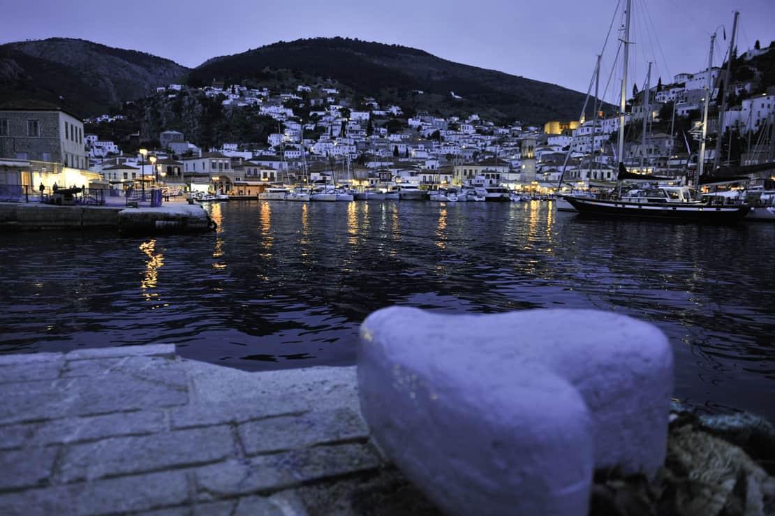 Hydra nocą port