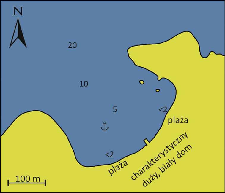 Zatoka Molos Hydra mapa
