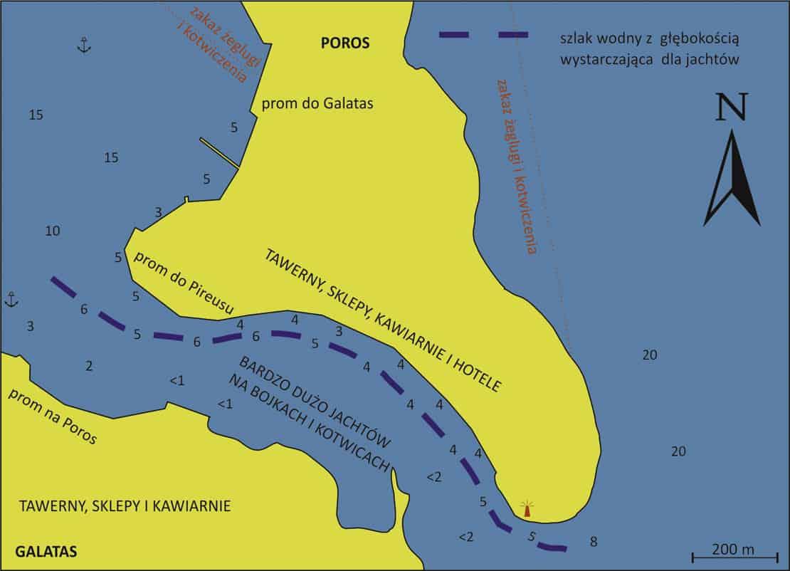 Port Poros mapa