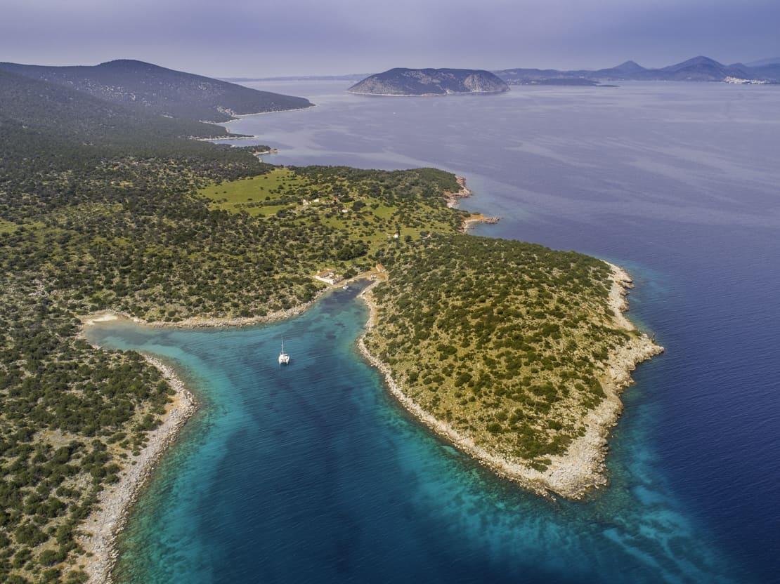 Dokos wyspa Zatoka Sarońska Grecja