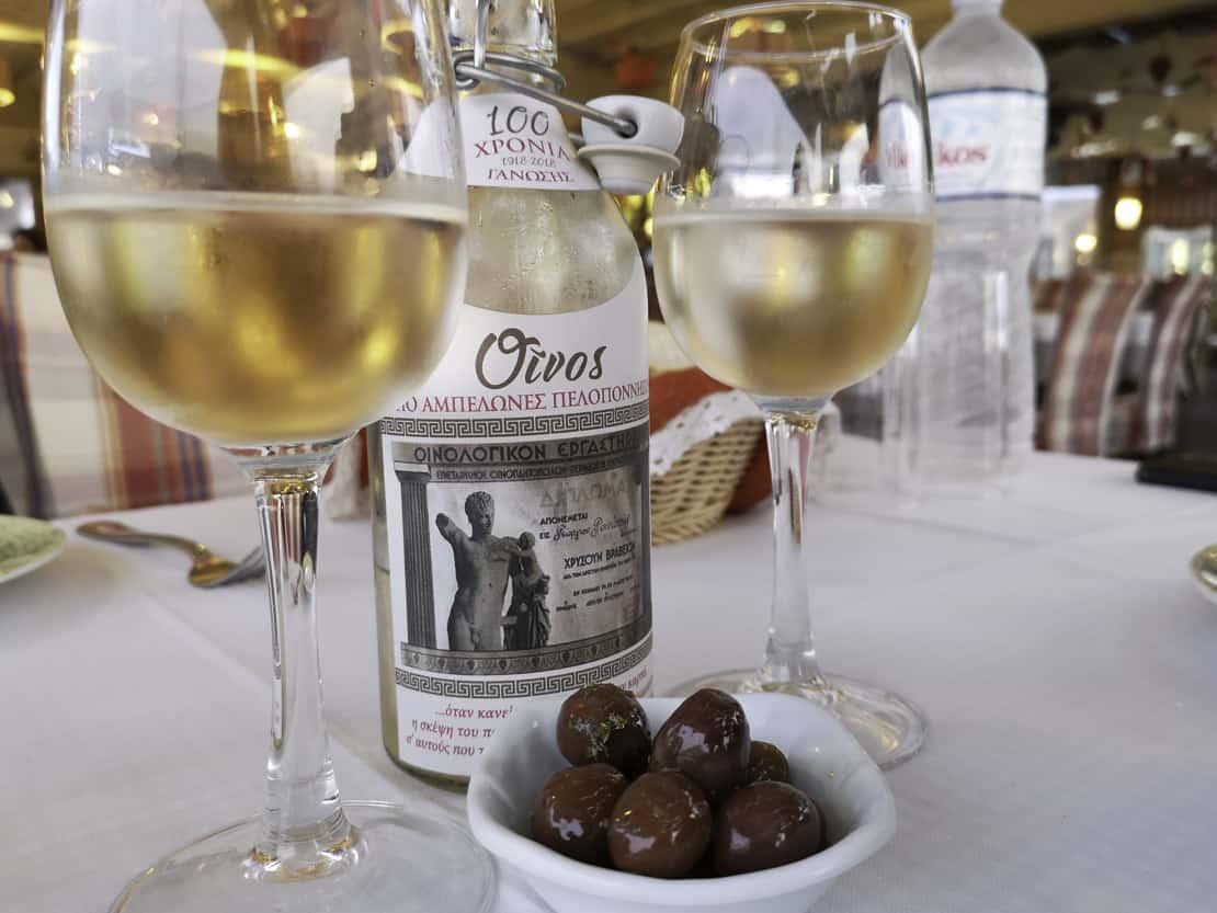 Oliwki i wino w Ermioni