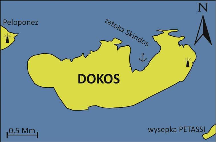 Wyspa Dokos mapka