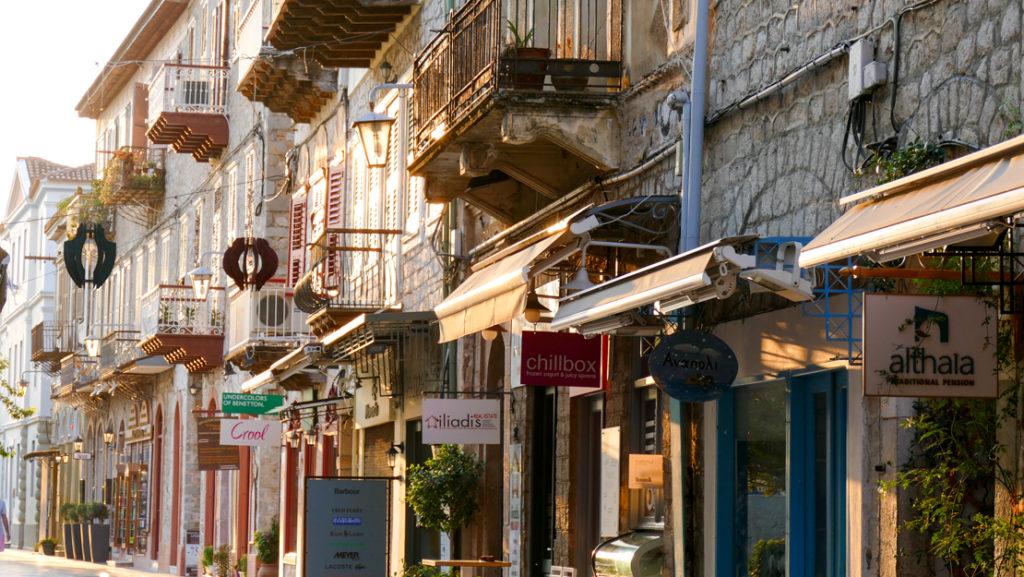 Stare Miasto w Nafplio kamieniczki