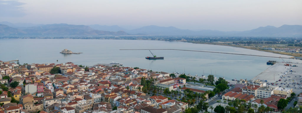 Widok na port Nafplio