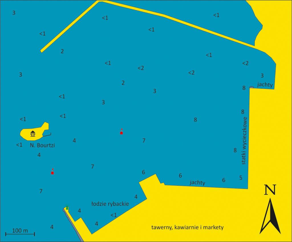 Nafplio port mapka