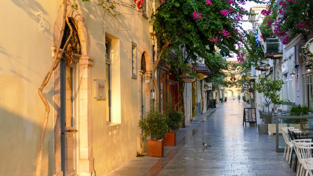 Stare Miasto w Nafplio uliczki
