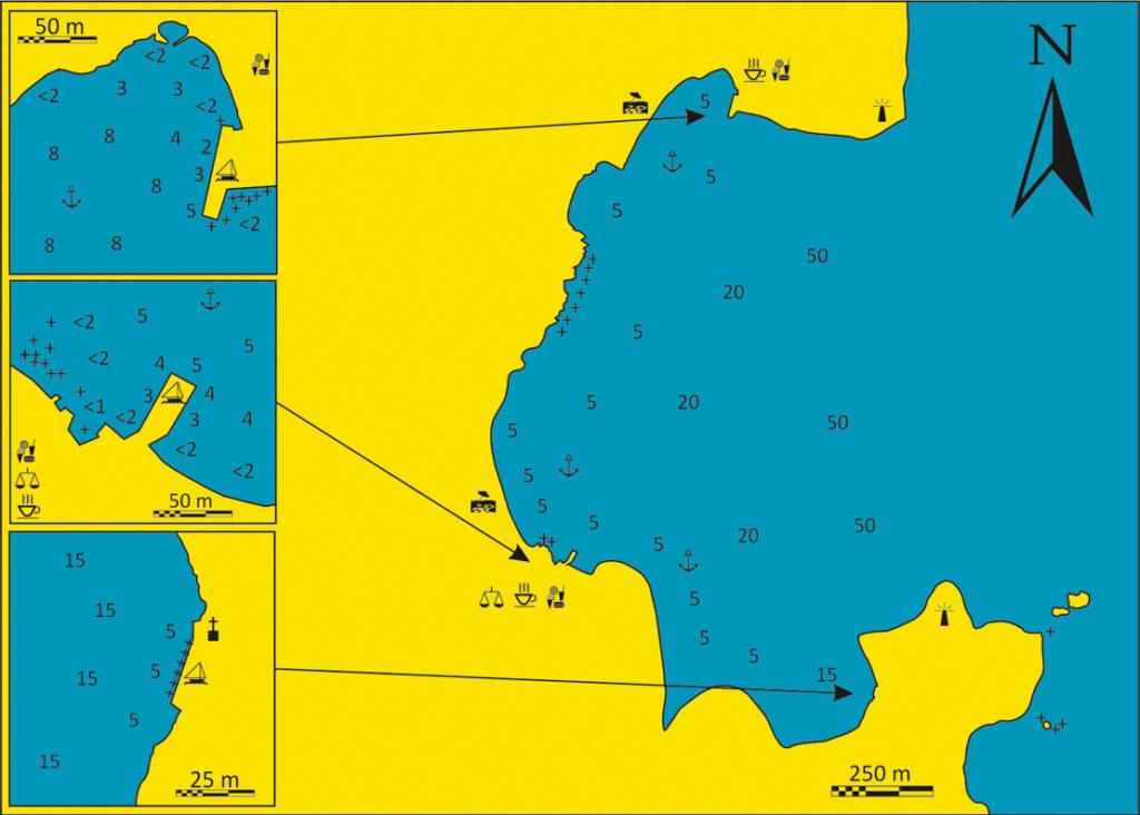mapka gdzie cumować w Kiparissi