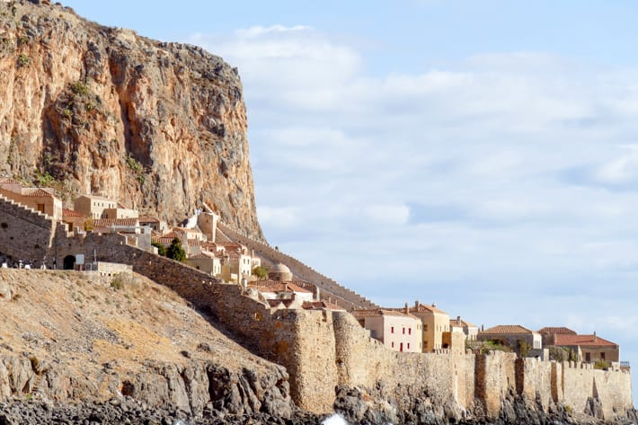 Monemvasia widok z morza