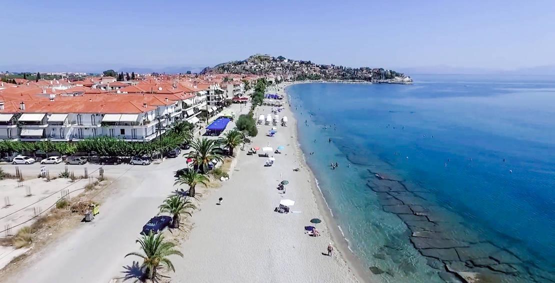 Plaża na Paralia Astros