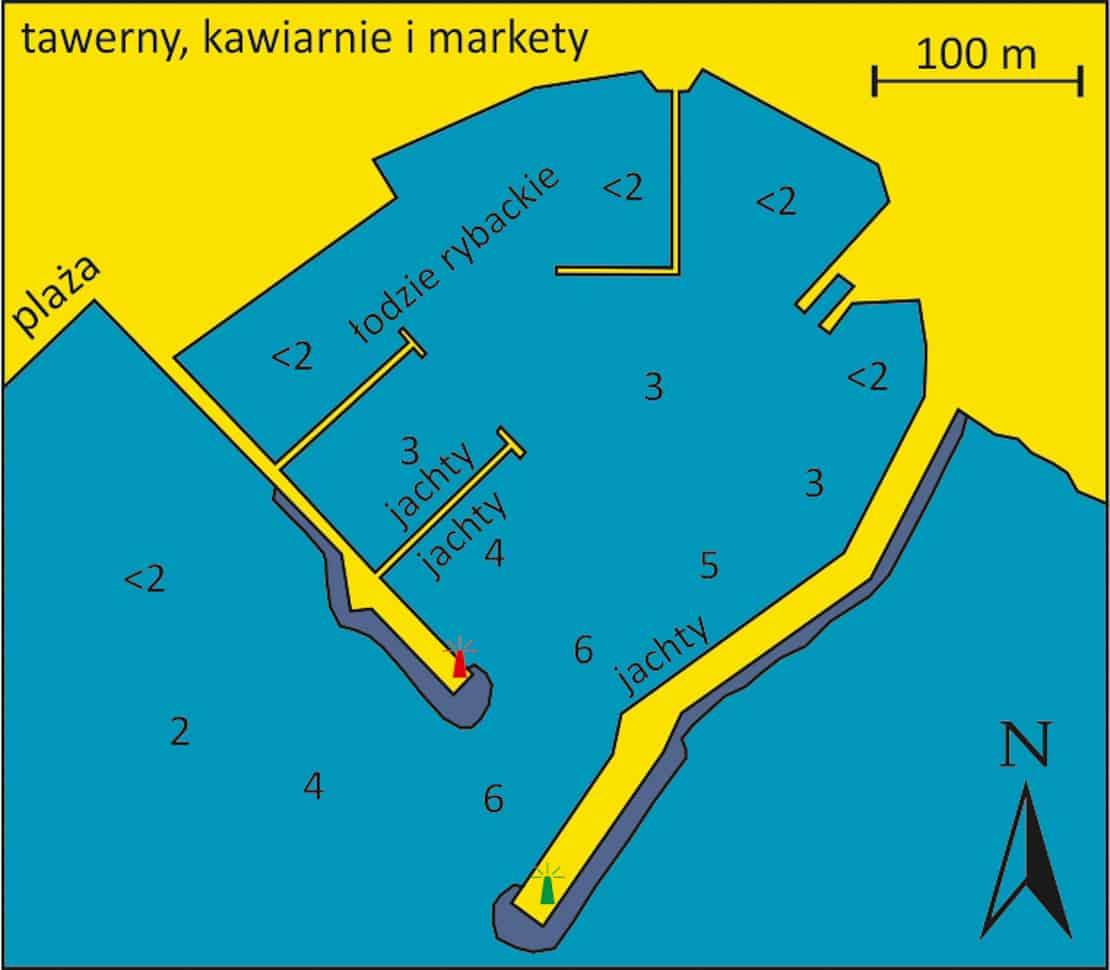 mapa portu Astrous