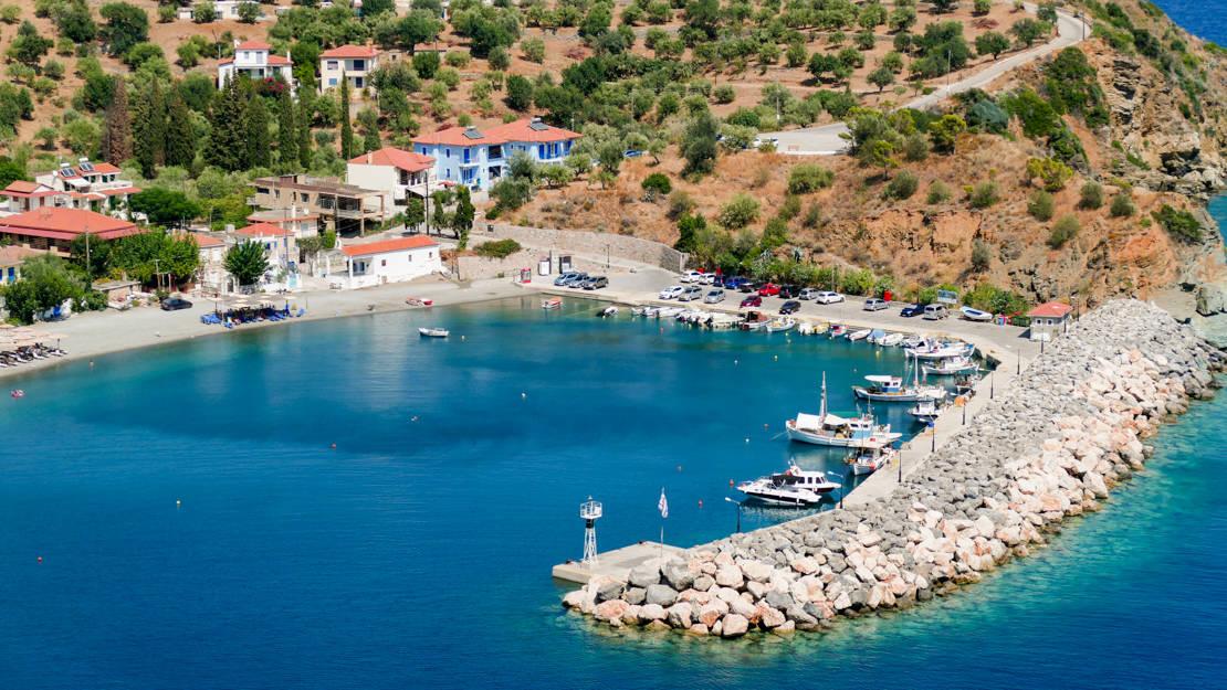 Port Sambateki widok z góry