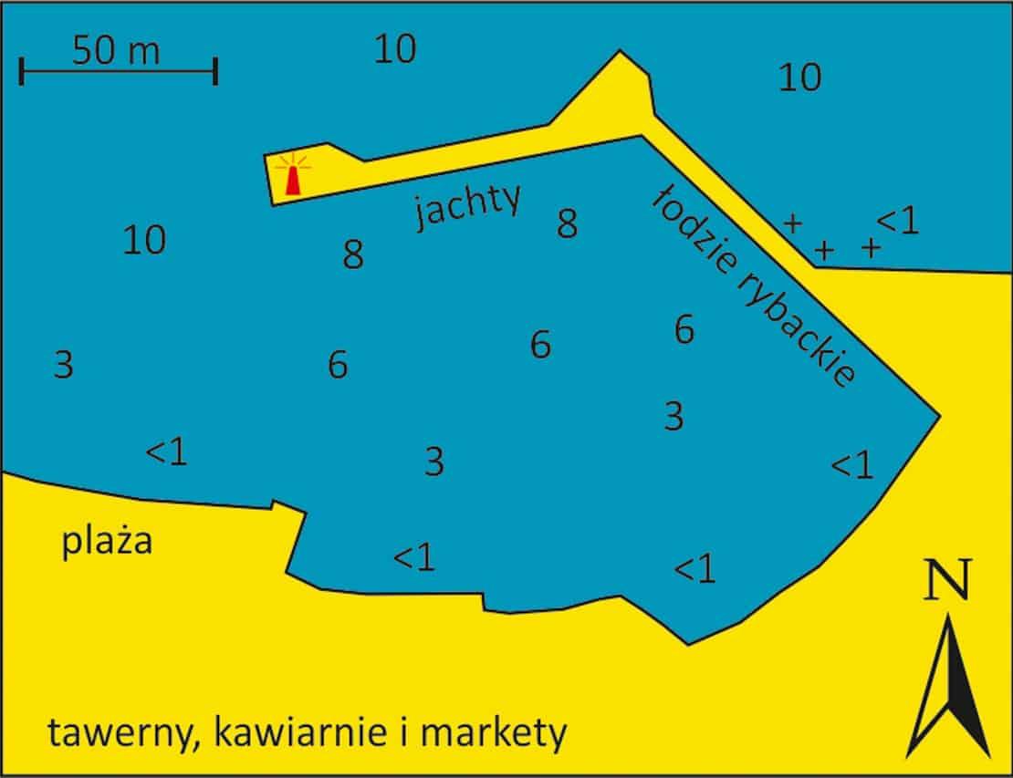 mapa portu w Tyros