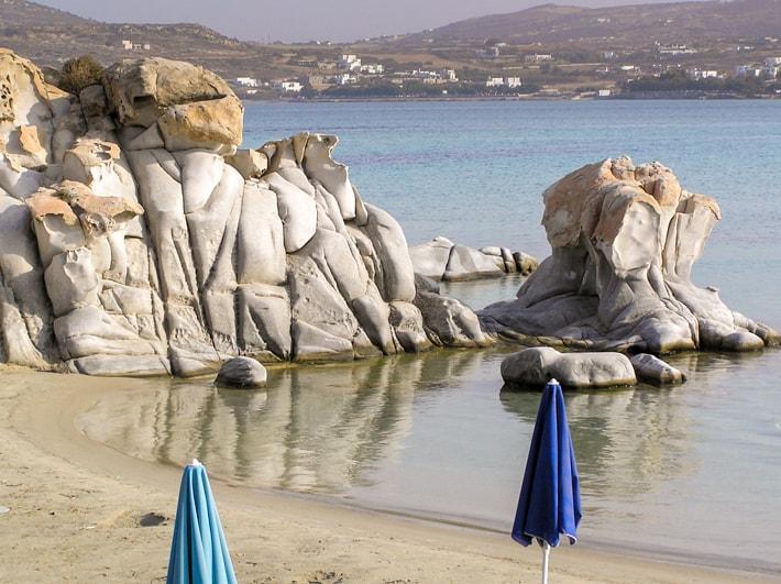 Wyspa Paros i plaża Kolimbithres