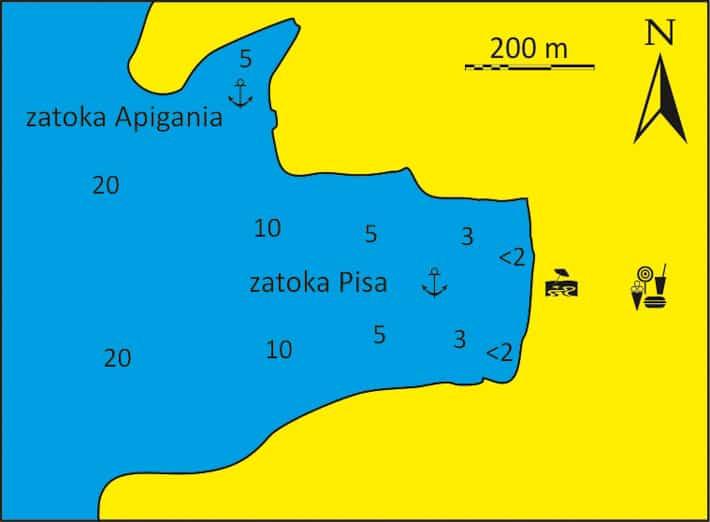 Zatoka Pisa na Kea mapka