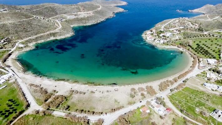 Zatoka Orgias wyspa Kea
