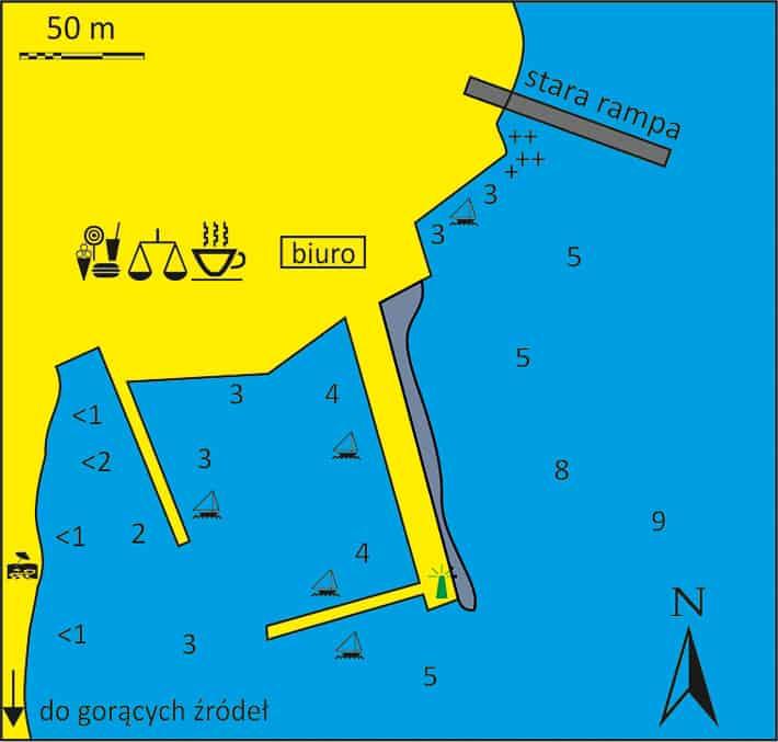 mapa Portu Loutra na wyspie Kithnos