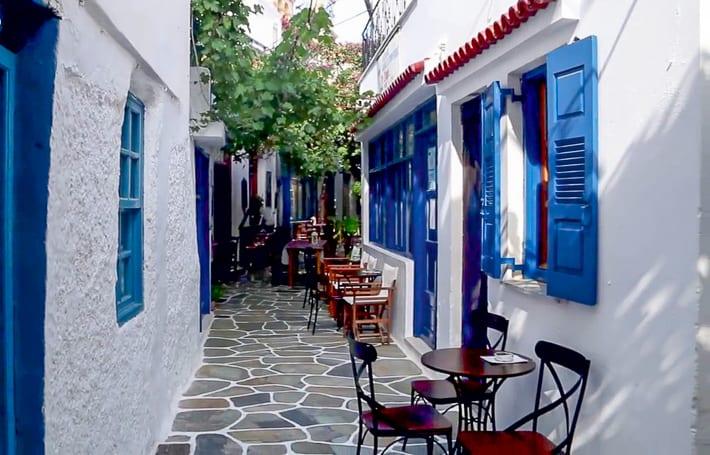 uliczka w Messaria Kithnos