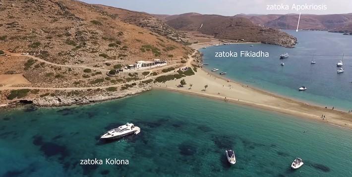 Zatoka Kolona i Fikiadha Kithnos