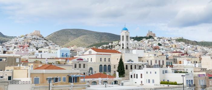 Ermoupoli stolica wyspy Syros