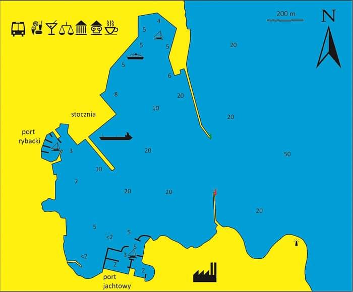 Ermoupoli zatoka mapka