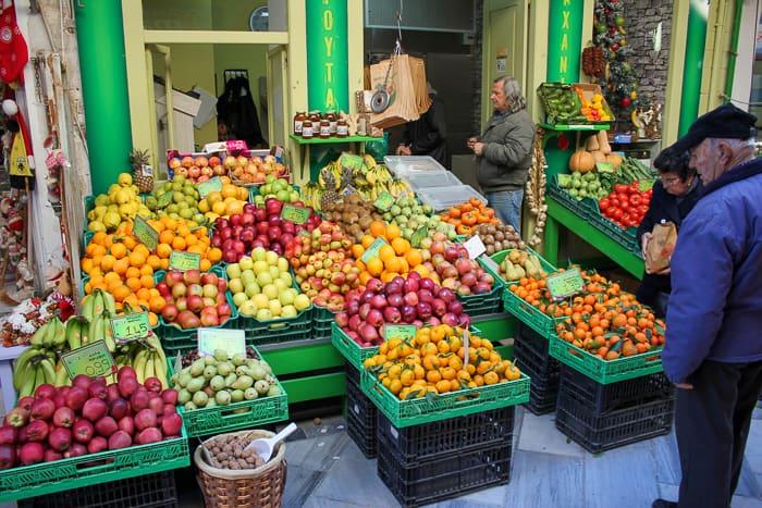 Sklepy na ulicy Chiou Ermoupoli Syros
