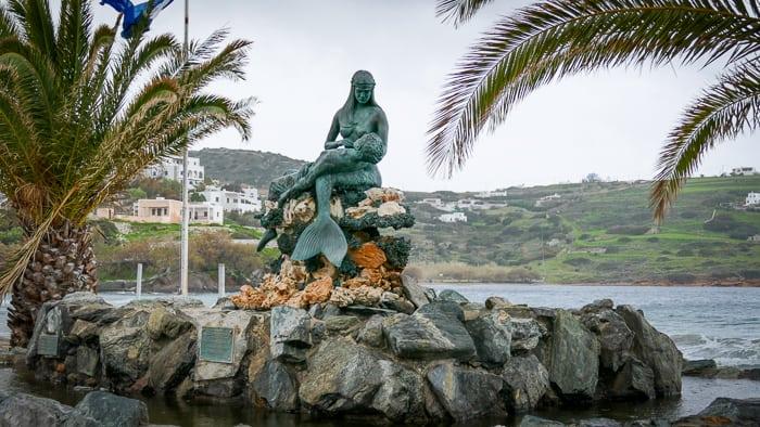 Syrenka Kini wyspa Syros