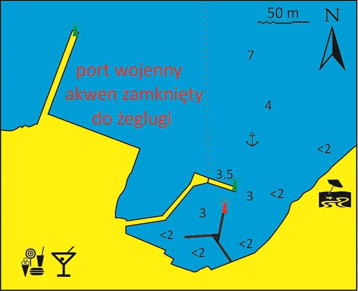 Port Posidhonia mapka wyspa Syros Cyklady