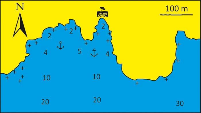 Zatoka Chasani mapa Syros