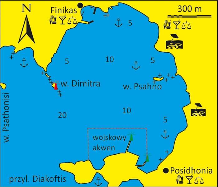 Zatoka Finika - mapka Syros