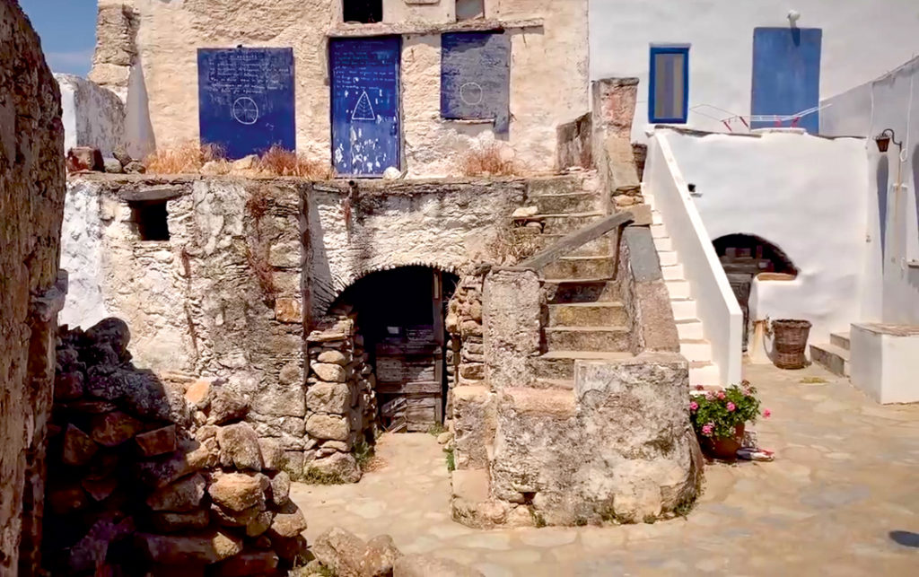 zabudowania na Volax wyspa Tinos