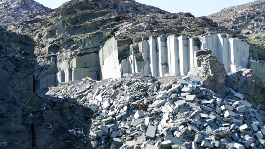 Tinos - wydobycie marmuru