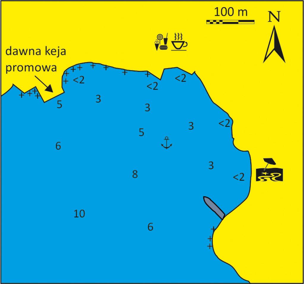 Zatoka Isternia mapka Tinos